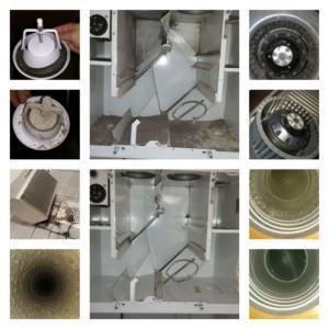 Omakotitalon ilmanvaihtokanavien puhdistus sekä ilmamäärien mittaus ja säätö