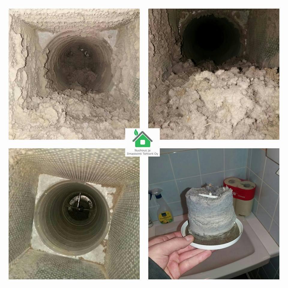 Ilmanvaihtokanavien puhdistus